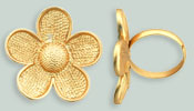 Daisy Ring - Free Size 30mm : Gold